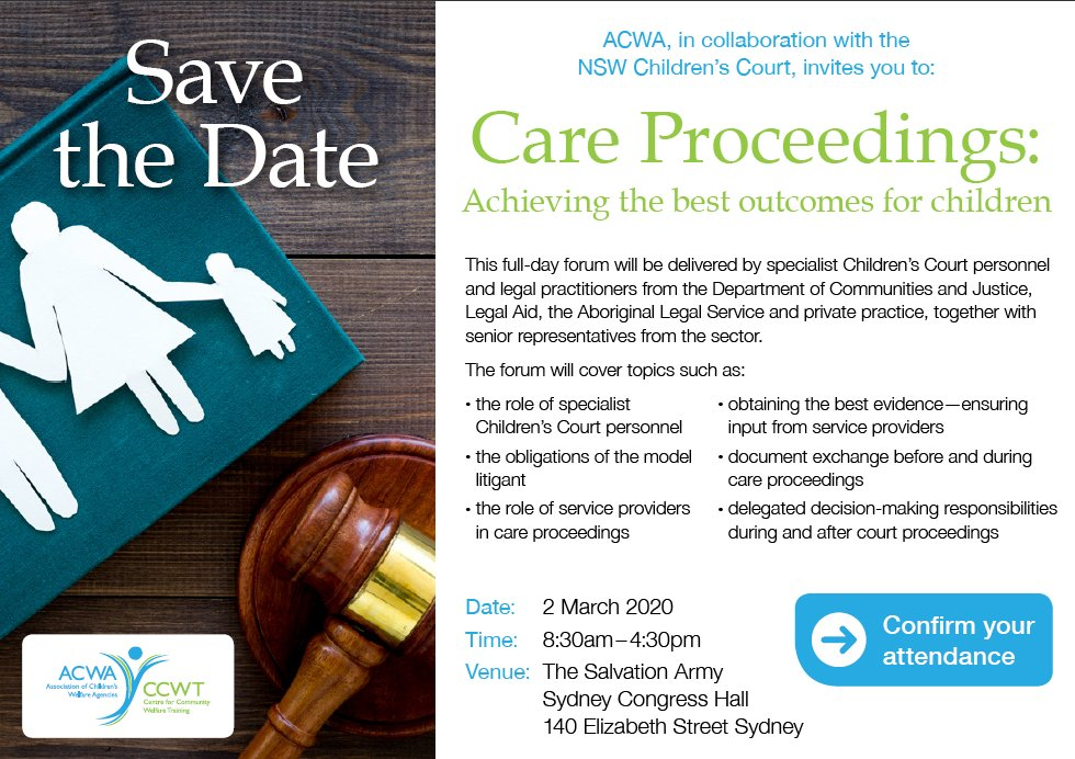 Save the Date – Care Proceedings: Achieving the best outcomes for children